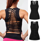 Womens Workout Tank Top T-shirt-Gym Clothes Fitness Yoga Hol