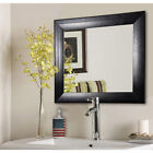 American Made Rayne Stitched Black Leather Vanity Wall Black
