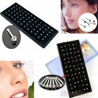 60Pcs Crystal Rhinestone Bone Stud Stainless Steel Body Piercing Nose Jewelry image
