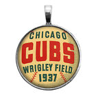 Chicago Cubs Baseball Pendant Necklace Key Ring Cufflinks Round Ring Earrings on Ebay