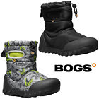 Bogs Wellies Boots Boys Baby BMOC Printed Waterproof Insulated Fur -20 Childrens