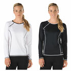 Speedo Rashguard UPF 50+ Swim Cover Up Long Sleeve Black Whi