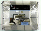 Cuddl Duds Heavy Weight 100% Cotton FLANNEL Sheet Set - Khaki Tan Black Plaid image
