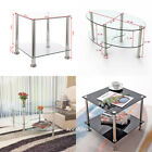 Modern Glass Chrome Oval / Square Side Lamp Coffee End Table Stainless Steel New