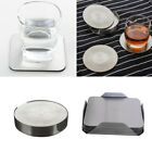 6PCS Table Coaster Heat-proof Stainless Steel Drink Coaster Set Round/Square