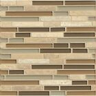 Allure Linear Gloss Stone and Mosaic Glass 12-inch x 12-inch Tile (Case of 10