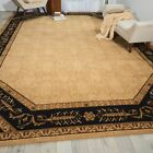 Vallencierre Black/ Beige Wool Rug