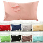 Pillowcase Pillow Case Breathable Bed Sofa Cushion Cover Solid Color 1 Pair