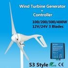 100-500W M/S3/S5 12V/24V 3/5 Blade Wind Turbine Generator Charge Controller