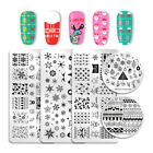 Christmas Nail Stamping Plates Snowflake Image Template  NICOLE DIARY