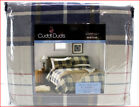 Cuddl Duds Heavy Weight 100% Cotton FLANNEL Sheet Set - Blue Khaki Plaid 🌟NEW🌟 image