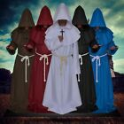 UK Party Cosplay Medieval Monk Cowl Robe Set Costume Wizard Friar Priest New