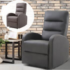PU Leather Recliner Sofa Armrest Chair Living Room Reclining Furniture Footrest