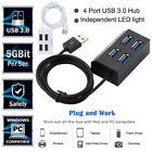 New Multiple USB 3.0 Hub Ports High Speed 4 Port For PC Accessory