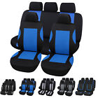 Universal Car Seat Rear Covers Black & Grey / Blue Washable Full 3 Piece Set