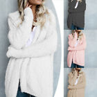 Women Long Sleeve Knitted Fluffy Coat Cardigan Sweater Casual Outwear Jacket