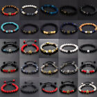 8mm Natural Round Gemstone Bead Handmade Beads Bracelets Jewelry For Men Women