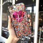 Bling Glitter Pink Heart Cute Protective Case For iPhone XS Max XR 8 7 Plus