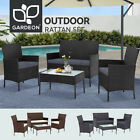Gardeon Outdoor Lounge Setting Garden Patio Furniture Wicker Chairs Table Rattan