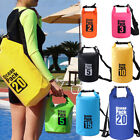 PVC Waterproof Dry Bag Sack For Canoe Floating Boating Kayaking Camping Backpack