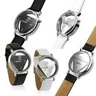 Fashion Womens Watch Mens Wrist Watch Stainless Steel Leather Band Quartz Analog image