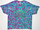 Adult TIE DYE Electric Blotter T-shirt 5X 6X Grateful Dead hippie art plus size