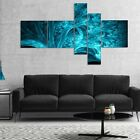 Designart 'Magical Blue Psychedelic Forest' Abstract Canvas Art Print