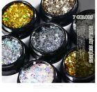 Mixed Moon and Star Nail Art Sequins Gold Silver Makeup Glitters DIY Accessories