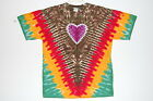 Adult TIE DYE Rasta Heart V short sleeved T Shirt 5X 6X hippie Marley tye dye