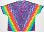 Adult TIE DYE Neon Rainbow V Blotter T Shirt art 5X 6X hippie grateful dead art