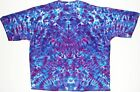 Adult TIE DYE Purple Blue Blotter T Shirt art 5X 6X grateful dead art tye die