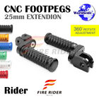 CNC 25mm Extension Front Footpegs POLE For Yamaha YZF R125 08-13 08 09 10 11 12