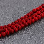 Natural Stone Red Turquoise Gemstone Round Spacer Loose Beads 6mm 8mm 10mm 16'