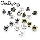 Внешний вид - 100X Metal Eyelet 5mm Hole Flower Leathercraft DIY Scrapbook Clothes Accessories