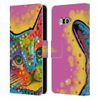 OFFICIAL DEAN RUSSO CATS LEATHER BOOK WALLET CASE FOR HTC PHONES 1