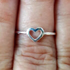 .925 Sterling Silver Ring Heart Kids Midi Ladies size 1-10 Thumb Knuckle New