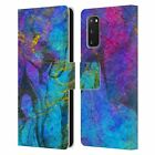 OFFICIAL HAROULITA MARBLE LEATHER BOOK WALLET CASE COVER FOR SAMSUNG PHONES 2