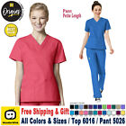WonderWink Scrubs Set ORIGINS Women's V-Neck Top  Cargo Pant 6016/5026 Petite