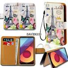 Leather Smart Stand Wallet Case Cover For Various LG SmartPhones + Strap