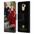 OFFICIAL OUTLANDER KEY ART LEATHER BOOK WALLET CASE FOR WILEYFOX & ESSENTIAL