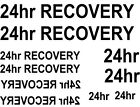 16  X 24hr recovery WATERSLIDE DECAL choice of colours IDEAL FOR  CODE 3 MODELS
