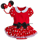 Внешний вид - Disney Store Minnie Mouse Baby Costume & Ears Headband 0-3 3-6 6-9 Months NWT