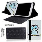 """LEATHER STAND COVER CASE + Bluetooth Keyboard For Various 7"""" 10"""" Fusion5 Tablet"""