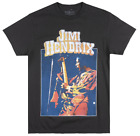 JIMI HENDRIX 1970 FREEDOM TOUR T-SHIRT BLACK MENS ROCK MUSIC TEE LICENSED image