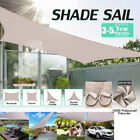300D Waterproof Sun Shade Sail Garden Canopy UV Patio Cover Triangle Rectangle
