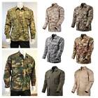 Mens Battle Dress Uniform BDU Shirt Camouflage Tactical Top Jacket size XS - 2XL