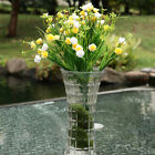 Artificial Plastic Greenery Silk Plants Spring Grass Rose Home Wedding Decor