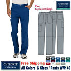 Cherokee Scrubs REVOLUTION Men's Fly Front Cargo Pants WW140 Regular/Petite