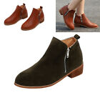 a1d8ac2830f 2019 New Women s Booties Casual Shoes Low Heels Up Ankle Boots Round Toe Zip
