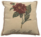 Dalea Belgian Single Floral Design Woven Tapestry Cushion Pillow Cover NEW